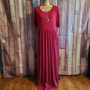 Zanana Cabernet Maxi Dress 1X